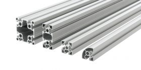 Group of Aluminium profiles